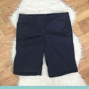 LOFT - Blue Bermuda Roll Shorts